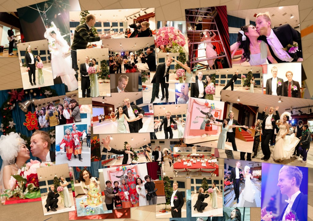 Collage with party pictures
